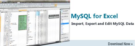 MySQLforExcelDownload